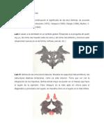 Significado de las láminas del test de Rorschach
