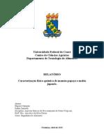Relatório de Frutos - Caracterização FQ