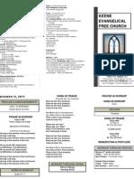 Church Bulletin -November 6th