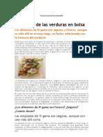 Seguridad de las verduras en bolsa