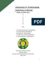 Laporan Observasi Pt Perkebunan Nusantara III Medan