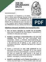 CREACIÓN DE PEQUEÑAS COMUNIDADES ECLESIALES