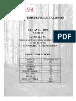 Catalogue Vente Feuillue Avril 2008