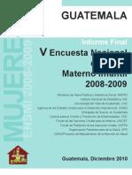Informe de Mujeres Ensmi 2008-09 Final Guaatemala