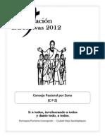 Folleto Consejo Pastoral Por Zona