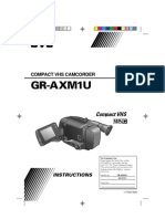 JVC GR-AXM1U Camcorder Manual