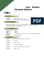 CV Luís Rubén Márquez Alpizar M