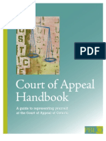 Court of Appeal Handbook (BRH 18Jan2010)
