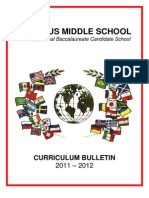 Curriculum Bulletin 2011 2012