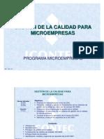 MP 16A-V3 GESTIÓN DE LA CALIDAD PARA MICROEMPRESAS