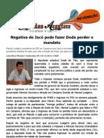 Negativa de Jacó pode fazer Doda perder o mandato
