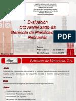 Evaluación COVENIN 03Dic2010