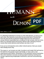 Humans and Demons - an essay