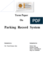 Parking Record System