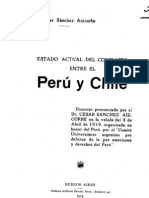Estado actual del conflicto entre el Perú y Chile. Discurso. (1919)