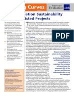 Post-Completion Sustainability of ADB-Assisted Projects