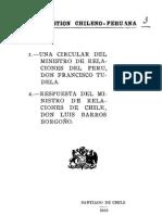 La cuestión chileno - peruana. 1. Una circular del Ministro de Relaciones Exteriores del Perú Dn. Fr