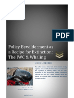 Policy Bewilderment as a Recipe for Extinction-The IWC and Whaling