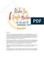 7 Risks For Single Mothers; & The Art of Managing Them—Introduction