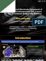 A Coast, High-efficiency Solar Cell Based on Dye-sensitized Colloidal TiO2 Films