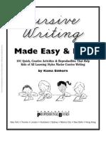 Easy and Fun Cursive Writing