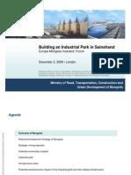 Building an Industrial Park in Sainshand