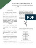 Reporte Aplicacion de Transistores II