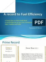 A Record to Fuel Efficiency