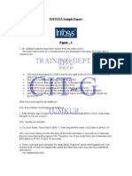 Infosys Sample Papers