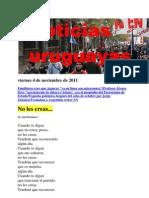 Noticias Uruguayas Viernes 4 de Noviembre de 2011
