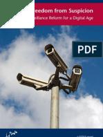 JUSTICE Freedom From Suspicion, Surveillance Reform for a Digital Age