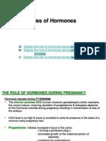 Roles of Hormones