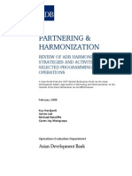 Review of ADB Harmonization Strategies and Activities in Selected Programming Operations