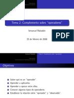Apéndice IV - Operadores y Observables