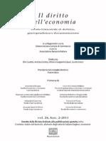 Indice, abstracts, recensioni - Diritto dell'Economia n.2/2011