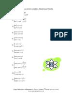 Ejercicios de sistemas de ecuaciones trigonométricas