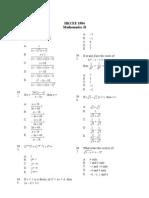 Mathematics 1984 Paper 2