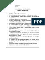 Ficha técnica caligrafía 1° básico