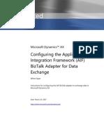 AXAPTA 4.0 ConfigureAIFBizTalkAdapterForDataExchange