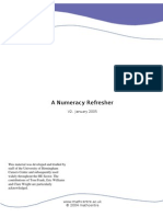Refresher Booklet Numeracy