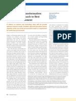 Procurement Transformation- A Holistic Approach to Best Practice Procurement