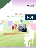 Disaster Preparedness eGuide by Microsoft