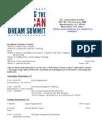 2011 Defending the American Dream Summit Agenda