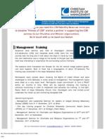 CIM Ministry Update (Nov. 2011)