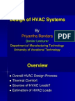 Design of HVAC Systems
