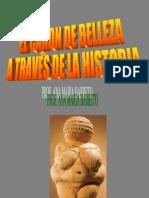 EL CANON DE BELLEZA A TRAVÉS DE LA HISTORIA