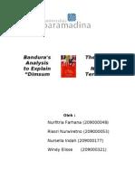 "Bandura's Theory of Analysis to Explain Novel ""Dimsum Terakhir"""