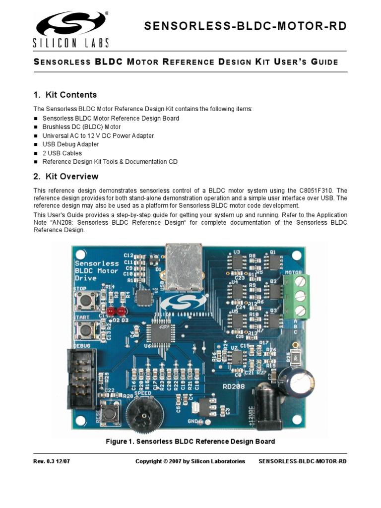 Sensor Less BLDC Motor-RD | Installation (Computer Programs) | Usb