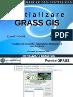 Initializare Grass Gis