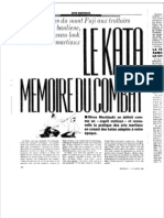 Article sur le Yoseikan Budo - Le Kata, Memoire Du Combat